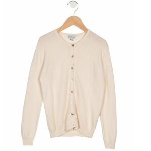 PAPO D'ANJO Girls' Cashmere Button-Up Cardigan